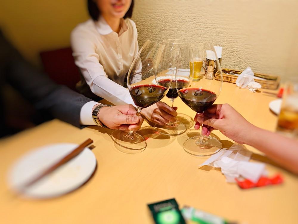 誕生日はワインで乾杯を。