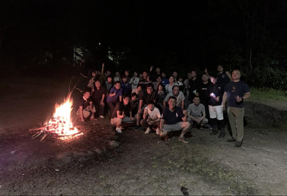 旭岳登山の前夜祭。